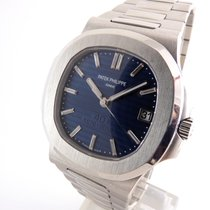 Patek Philippe Platinum Automatic Blue 41mm pre-owned Nautilus