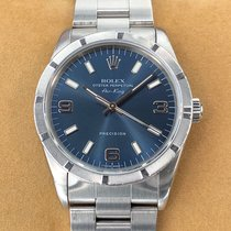 Rolex Air King Precision Steel 34mm Blue Arabic numerals