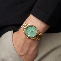 Rolex Day-Date 36 Geelgoud 36mm Blauw Nederland, Amsterdam