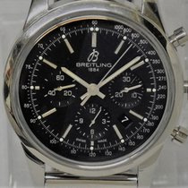 Breitling Transocean Chronograph Steel 43mm Black No numerals United States of America, New York, Pittsford