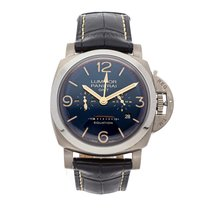 Panerai Luminor 1950 8 Days GMT Titanium 47mm Blue Arabic numerals United States of America, Pennsylvania, Bala Cynwyd