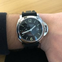 Panerai Luminor Marina Automatic pre-owned 40mm Black Month Calf skin