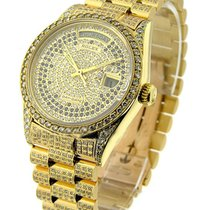 Rolex Used super_yg_prez_used Yellow Gold Super President Full...