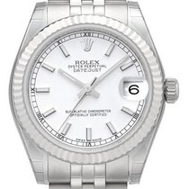 Rolex Oyster Datejust 31 mm Ref. 178274 Jubile-Band Weiß Index