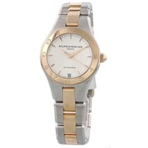 Baume & Mercier Linea 18K Rose Gold & Steel MOA10073...