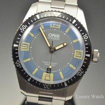 Oris Divers Sixty Five Light Blue Stainless Steel Watch