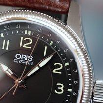 Oris Big Crown Pointer Date 40 Steel on Leather Black Arabic