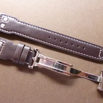 Bodhy Dark Brown 22mm Leather strap with Deplo- 22/18mm Pilot...