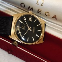 Omega 1970 Seamaster black dial Automatic vintage mens watch