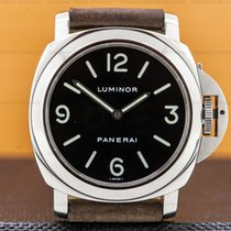 Panerai 44mm Manual winding 2003 pre-owned Luminor Base Black