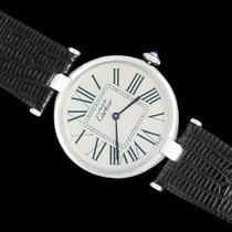 Cartier 21 Must de Cartier pre-owned 30mm Silver Leather