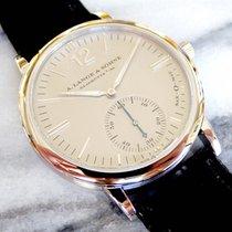 A. Lange & Söhne Platinum Automatic Silver pre-owned Langematik