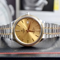 Tudor Style Gold/Steel 38mm Champagne No numerals