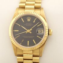 Rolex Datejust Or jaune 31mm Noir