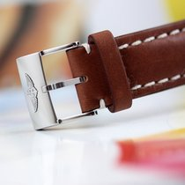 Breitling 443X Leather Strap/Steel Buckle - Cowhide 24-20 Mens...