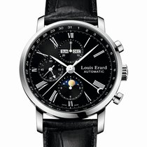 Louis Erard Excellence Automatic 42 Moonphase Black Dial