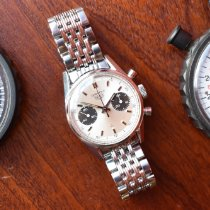 Heuer Chronograph 36mm Manual winding 1970 pre-owned Silver
