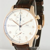 IWC Portuguese Chronograph pre-owned 40mm Rose gold