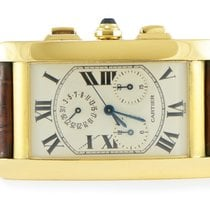 Cartier Tank Américaine pre-owned 26mm White Month Leather