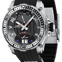 Zeno-Watch Basel Steel 45mm Quartz 4536Q-h1 new
