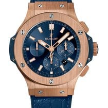 Hublot Big Bang 44 mm Pозовое золото 44mm Синий Без цифр
