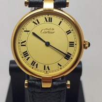 Cartier pre-owned Quartz 30mm Champagne Sapphire Glass