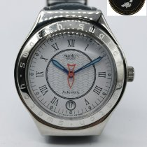Swatch Steel Automatic White Roman numerals 37mm new