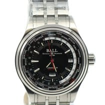 Ball Trainmaster Worldtime Steel 41mm Black