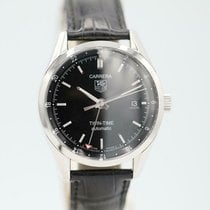 TAG Heuer Carrera Calibre 7 pre-owned 38.5mm Black Leather