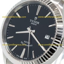 Tudor STYLE 38mm Date Steel Black Indexes  12510