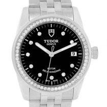 Tudor Glamour 36mm Black Dial Diamond Unisex Watch 55020 Unworn