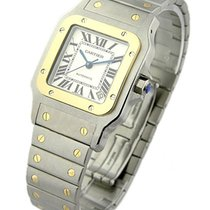 Cartier W20099C4 SANTOS GALBEE XL in 2-Tone - on Steel and...