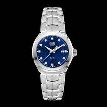 TAG Heuer Link Lady WBC1318.BA0600 Tag Heuer Link Quadrante Blu Diamanti new