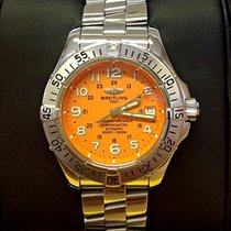 Breitling Superocean Orange Dial - Serviced by Breitling