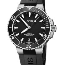 Oris Steel Automatic Black 39.5mm new Aquis Date