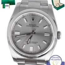 Rolex MINT 2016 Rolex Oyster Perpetual 116000 36mm Gray...