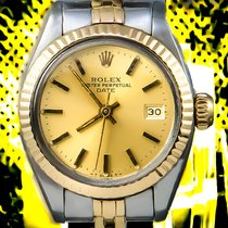 Rolex Datejust Lady's Sapphire Crystal Gold & Steel 16013