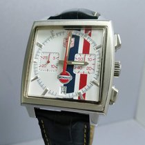 TAG Heuer Chronograph 38mm Automatic 2006 pre-owned Monaco (Submodel) White