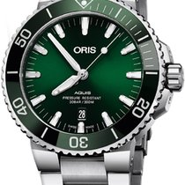 Oris 43.5mm Automatic new Aquis Date Green