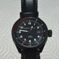 Hamilton Khaki Aviation usados 42mm Negro Fecha Piel