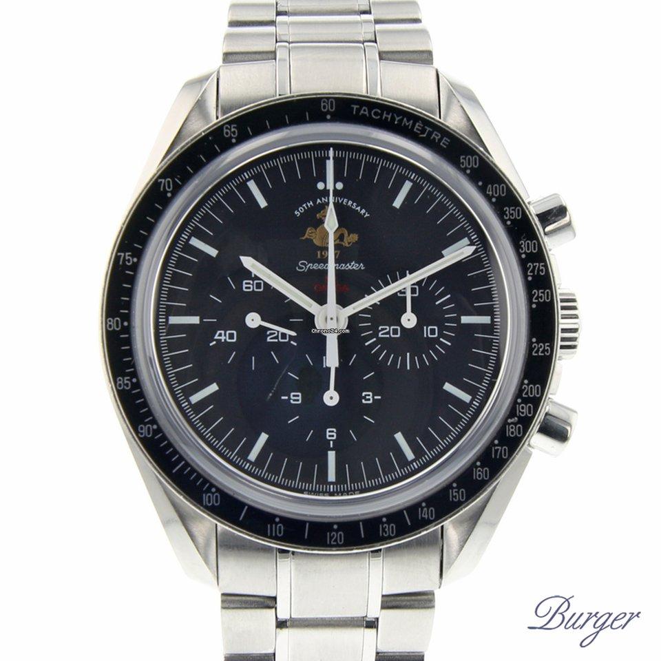 7387552c713 Omega Speedmaster Professional Moonwatch 50th Anniversary por 4.500 € para  vender por um Trusted Seller na Chrono24