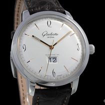 Glashütte Original Sixties Panorama Date pre-owned 42mm Panorama date Crocodile skin