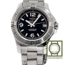 Breitling Colt 36 Steel 29mm Black Arabic numerals