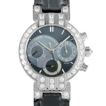 Harry Winston new Quartz Small Seconds 32mm White gold