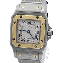 Cartier Santos Galbée Gold/Steel 24mm Silver