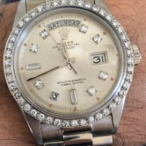 Rolex Or blanc Remontage automatique Argent 36mm occasion Day-Date