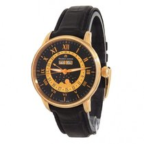 Maurice Lacroix Masterpiece Phases de Lune pre-owned 40mm Black Moon phase Date Month Leather