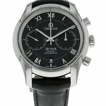 Omega De Ville Co-Axial pre-owned 42mm Chronograph Date Leather