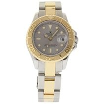 Rolex Yacht-Master pre-owned 29mm Grey Date Year Gold/Steel