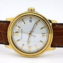 Blancpain Léman Ultra Slim новые Автоподзавод Часы с оригинальными документами и коробкой 2100-1418-53A  2100.1418.53A